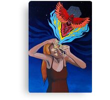 Prying Open My Third Eye Acrylic Painting Canvas Print