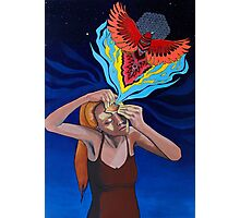 Prying Open My Third Eye Acrylic Painting Photographic Print