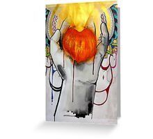 An Explosive Moment Greeting Card