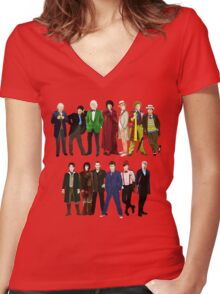Doctor Who - The 13 Doctors Women's Fitted V-Neck T-Shirt