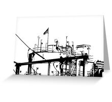 Zoned for Indusrty - B&W High Contrast Industrial Electric Plant Greeting Card