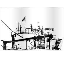 Zoned for Indusrty - B&W High Contrast Industrial Electric Plant Poster