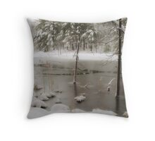 Natale Willcox Brown Forest Throw Pillow