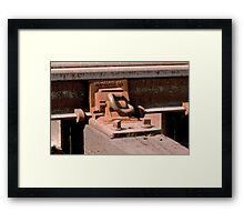 Trains - Rail and Tie Attachment Framed Print