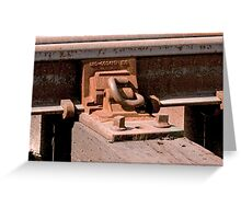 Trains - Rail and Tie Attachment Greeting Card