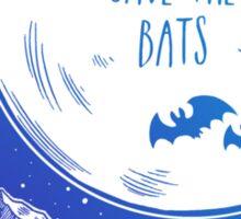 Save the Bats! Sticker
