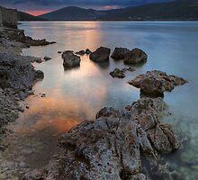 Rocks in the sunset by Lidija Lolic