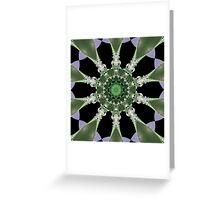 Foliage Kaleidoscope Greeting Card