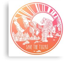 Save the Tigers! Canvas Print