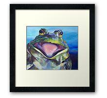 The Bullfrog Framed Print