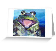 The Bullfrog Greeting Card