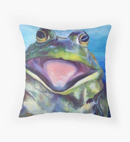 The Bullfrog Throw Pillow