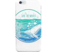 Save the Whales! iPhone Case/Skin