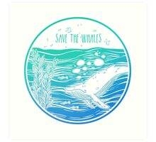 Save the Whales! Art Print