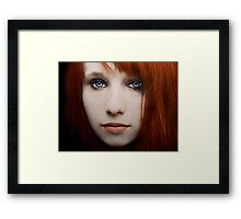 I can see the ocean in your eyes Framed Print