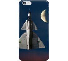 SAAB Viggen and the Moon iPhone Case/Skin