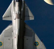 SAAB Viggen and the Moon Sticker