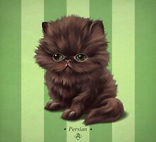 Cataclysm - Persian Kitten - Stripes by Iker Paz Studio