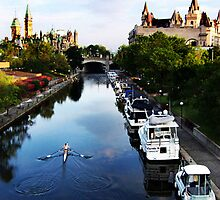 Chateau Laurier and the Rideau Canal by clivebranson