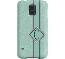1920s Blue Deco Swing with Monogram letter C Samsung Galaxy Case/Skin