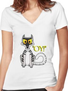 Oy! Women's Fitted V-Neck T-Shirt