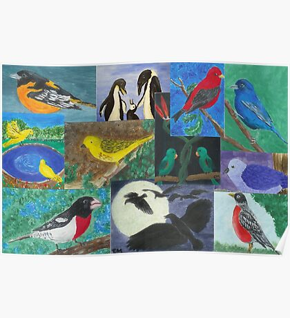Bird Collage Poster