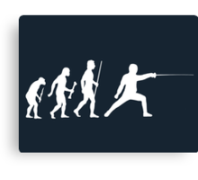 Fencing Evolution Of Man Canvas Print