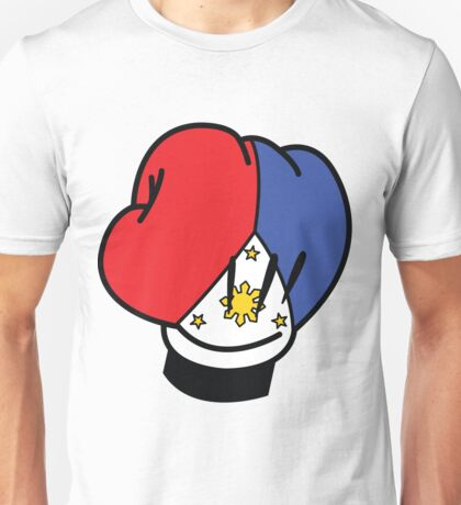 MP Mickey Pacquiao Filipino Flag Boxing Glove by AiReal Apparel Unisex T-Shirt