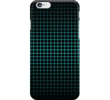 Optical Illusion Grid in Black and Neon Green iPhone Case/Skin