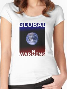 Global warming (TS) Women's Fitted Scoop T-Shirt