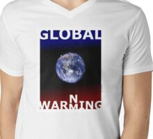 Global warming (TS) Mens V-Neck T-Shirt