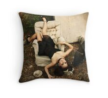 broken doll Throw Pillow