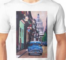 Cuban Oldtimer Street Scene in Havana Cuba with Buena Vista Feeling Unisex T-Shirt