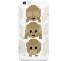 Three Wise Monkeys iPhone Case/Skin