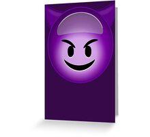 Evil Purple Greeting Card