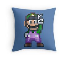 Pixel Luigi Throw Pillow