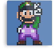 Pixel Luigi Metal Print
