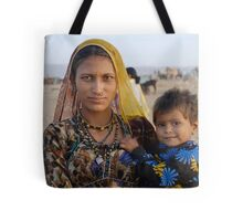 Gypsy woman with Child at Camel Fair Tote Bag