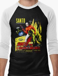 Santo vs. The Invasion of the Martians! '67 Men's Baseball ¾ T-Shirt
