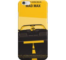 No051 My Mad Max 1 minimal movie poster iPhone Case/Skin