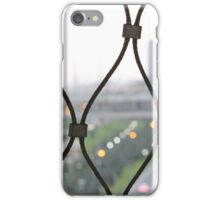 Modern Society through the fence iPhone Case/Skin
