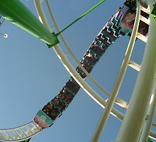 Roller Coaster Looping Overhead by MontagnaMagica