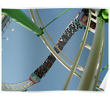 Roller Coaster Looping Overhead Poster