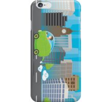Green Car in The City iPhone Case/Skin