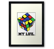 "Rubix Cube (Complex), ""My Life."" Quote Framed Print"