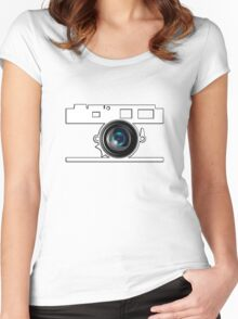 Camera Lens Women's Fitted Scoop T-Shirt