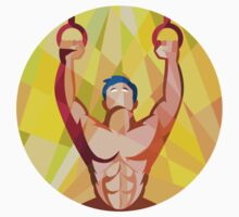 Cross-fit Training Weights Ring Circle Low Polygon by patrimonio