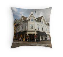 Norwegian Town Panorama Throw Pillow