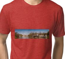 Palace in Royal Baths Park in Warsaw Tri-blend T-Shirt