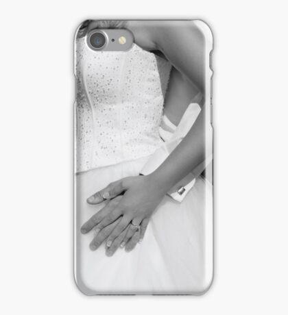 Bride and groom hugging together iPhone Case/Skin